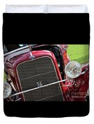 1930 Red Ford Model A-front-8886 Duvet Cover