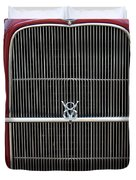 1930 Red Ford Model A-grill-8885 Duvet Cover