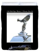 1930 Rolls Royce Mascot And Car Duvet Cover