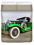 1930 Willys Knight 66b-plaidside Duvet Cover