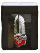 1930's Cadillac Emblem Duvet Cover