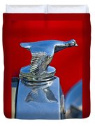 1931 Ford Model A Quail Hood Ornament Duvet Cover