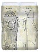 1932 Baseball Cleat Patent Duvet Cover