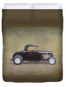 1932 Ford Convertible Street Rod Duvet Cover