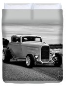 1932 Ford Coupe 'black And White' Duvet Cover