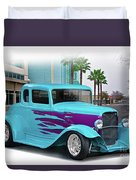 1932 Ford 'down Town' Coupe Duvet Cover