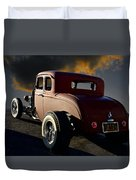 1932 Ford Five Window Coupe 'leaving Town' Duvet Cover