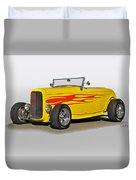 1932 Ford 'flame Game' Roadster Duvet Cover