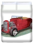 1932 Ford Hi-boy Hot Rod Duvet Cover