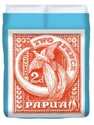 1932 Papua New Guinea Bird Of Paradise Postage Stamp Duvet Cover