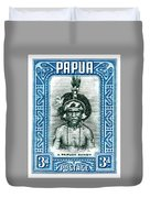 1932 Papua New Guinea Native Dandy Postage Stamp Duvet Cover