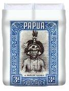 1932 Papuan Dandy Stamp Duvet Cover