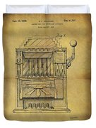 1932 Slot Machine Patent Duvet Cover