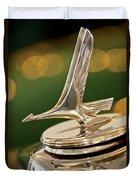 1932 Studebaker Dictator Custom Coupe Hood Ornament Duvet Cover