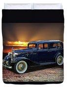1933 Chevrolet 4 Door Eagle Sedan Duvet Cover