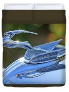 1933 Chrysler Imperial Hood Ornament 2 Duvet Cover