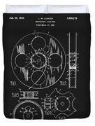 1933 Film Reel Patent Duvet Cover