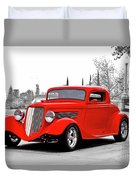 1933 Ford 'three Window' Coupe I Duvet Cover