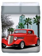 1933 Ford 'three Window' Coupe II Duvet Cover