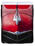 1933 Oldsmobile Hood Ornament Duvet Cover