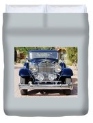 1933 Packard 12 Convertible Coupe Duvet Cover
