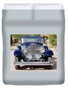 1933 Packard 12 Convertible Coupe Duvet Cover by Jill Reger