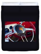 1933 Pontiac Steering Wheel Duvet Cover
