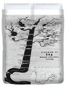 1933 Tennessee Valley Authority Map Duvet Cover by Daniel Hagerman