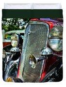 1934 Chevrolet Head Lights Duvet Cover