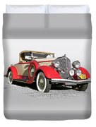 1934 Chrysler Roadster Duvet Cover