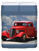 1934 Ford 'sherrys Cherry' Coupe Duvet Cover