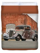 1934 Ford 'survivor' Coupe Duvet Cover