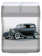 1934 Ford 'victoria' Coupe Duvet Cover