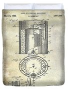 1935 Beer Equipment Patent  Duvet Cover