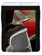 1935 Chevrolet Optional Eagle Hood Ornament Duvet Cover