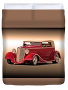 1935 Chevrolet Phaeton 3q Driver Side Duvet Cover
