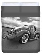 1935 Ford Coupe In Black And White Duvet Cover