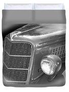 1935 Ford Sedan Grill Duvet Cover