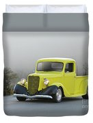 1935 Ford V8 Pickup Duvet Cover
