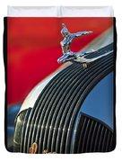 1935 Pontiac Sedan Hood Ornament Duvet Cover
