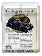 1936 Buick Century Classic Ad Duvet Cover