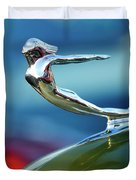 1936 Cadillac Hood Ornament 2 Duvet Cover