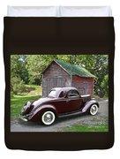 1936 Ford 3-window Duvet Cover
