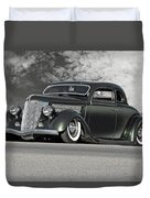 1936 Ford 'bug Crusher' Coupe Duvet Cover