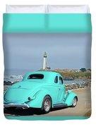 1936 Ford Coupe 'shoreline' 1 Duvet Cover