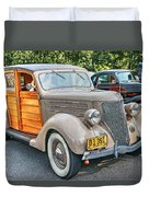 1936 Ford V8 Woody Station Wagon Duvet Cover