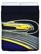 1936 Pontiac Hood Ornament Duvet Cover