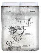 1936 Toilet Bowl Patent Antique Duvet Cover