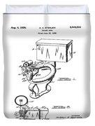 1936 Toilet Bowl Patent Duvet Cover