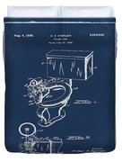 1936 Toilet Bowl Patent Blue Duvet Cover